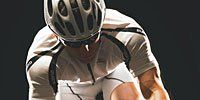 Clothing, Bicycles--Equipment and supplies, Sports equipment, Helmet, Bicycle handlebar, Bicycle helmet, Bicycle frame, Sports uniform, Bicycle jersey, Sportswear,