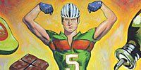 Finger, Yellow, Recreation, Joint, Helmet, Sports gear, Personal protective equipment, Chest, Muscle, Bicycle helmet,