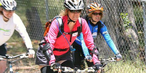 Women Cycling Happy