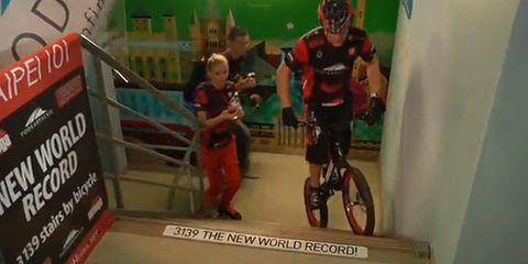 Cycling Stair Climb World Record