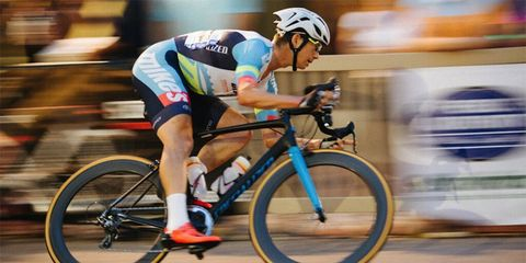 The new Specialized Allez Sprint in action at the Iron Hill Twilight Criterium in West Chester, Pennsylvania.