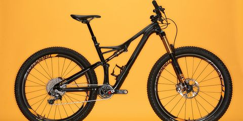 This Stumpy comes in three options: 29er, 27.5-inch, and (pictured here) with the new 6Fattie tire.