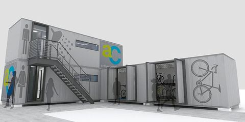 Active Commuting Modular Locker Rooms