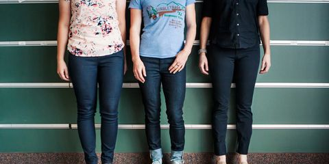 From left to right: Rapha's, Levi's, and Betabrand's offerings.