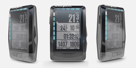 Measuring 2.7 inches diagonally, the Wahoo ELEMNT is a small solution to the big issue of monitoring your ride data.