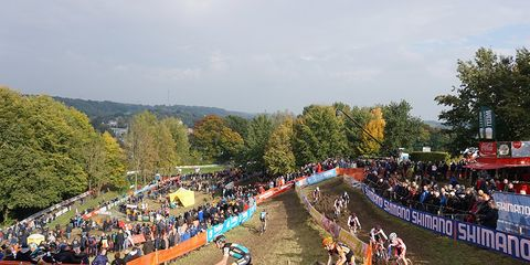 Valkenburg World Cup: View of the crowd at the race course in The Netherlands