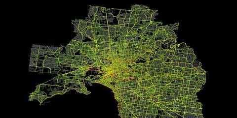 Strava Heatmap of Melbourne