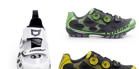 Catlike's Whisper shoes for road, mountain, and triathlon feature graphene-reinforced soles