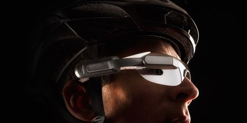 Unlike other HUDs, Garmin's Varia Vision clips to a users existing eyewear