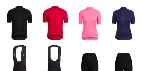 Rapha's Core Collection launches with four items: men's and women's short sleeve jerseys, men's bibs, and women's shorts