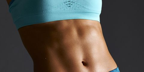 Female athlete's abdominal muscles
