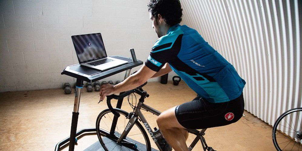First Look Wahoo Fitness Standing Desk For Cyclists