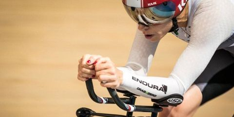 Bridie O'Donnell races track cycling for hour record