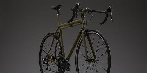 Speedvagen's new OG1 steel race bike in Matte Army.