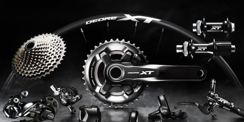 Shimano's new 2016 XT Di2 groupset released in 2016.
