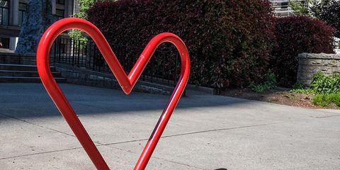 heart shaped bike rack