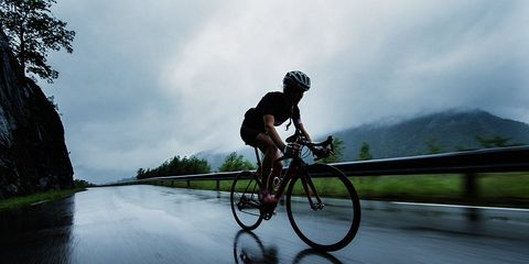 women racing bikes