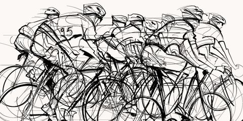 bike fit illustration