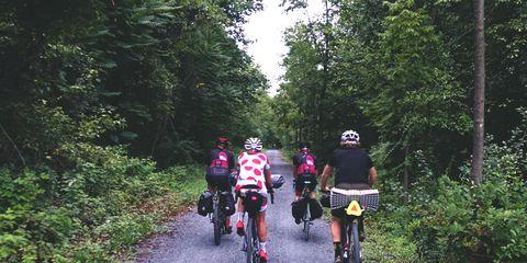 bike riding touring trail