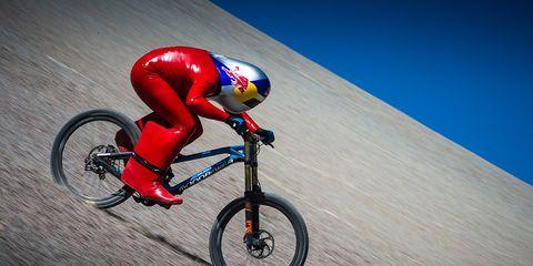 mountain bike speed record red bull