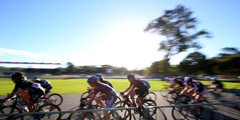 Female Cyclists Competing