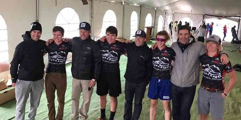 the team of high school riders posting for a photo with Lance Armstrong's 24 hours in the Old Pueblo Team