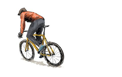 This Cyclist's Moving Bike Drawing Will Have You Hypnotized