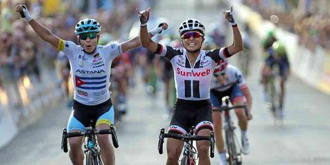 coryn rivera wins sprint