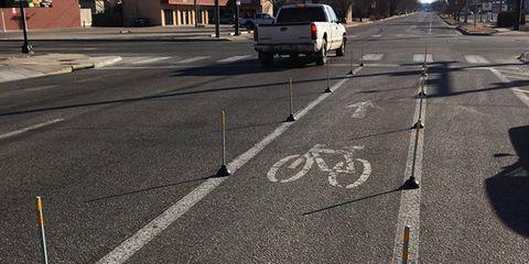 Plunger bike lane.