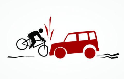 This Bizarre Video Captures the Best-Case-Scenario for a Car-Bike Crash
