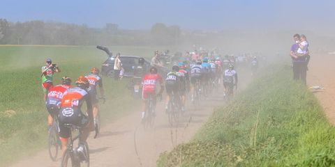 French Police Pick up Paris-Roubaix Rider on the Highway.