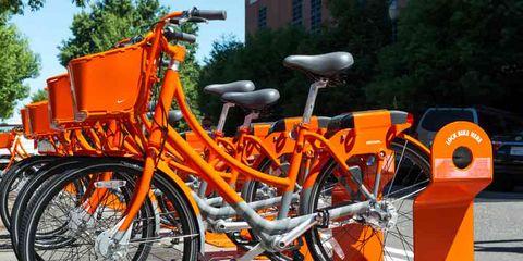 Portland's Nike Biketown Bike-Share Bikes