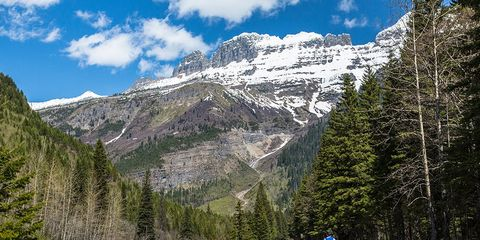 glacier national park montana cycling