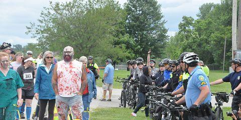 Bike police zombie training