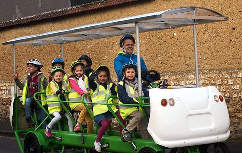 This School Bus Lets Kids Bike To Class Bicycling