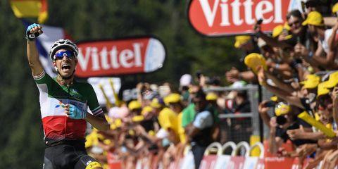 aru wins stage five of the tour de france