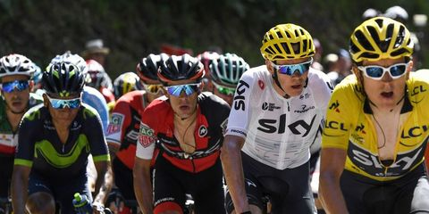 Beating Chris Froome in the 2017 Tour de France.