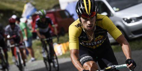 primoz roglic winning stage 17 of the tour de france