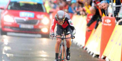 Richie Porte finishing stage 1 of the 2017 Tour de France