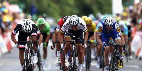 Peter Sagan Sprints to Win Stage 3 at the 2017 Tour de France