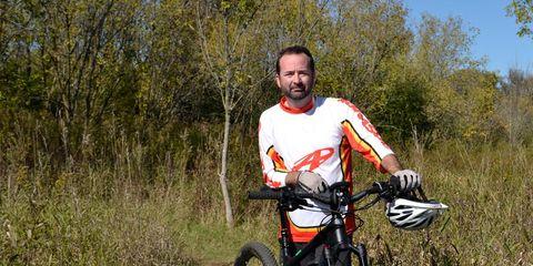 Eric Schutt on an e-mountain bike