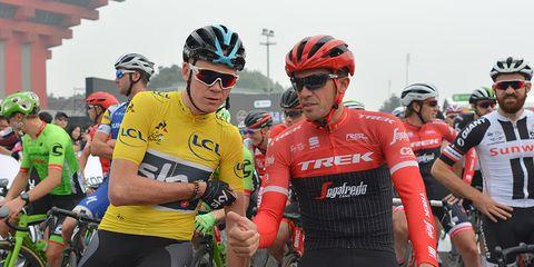 Chris Froome and Alberto Contador