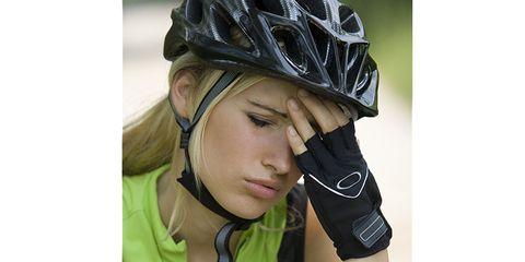 Cyclist with headache