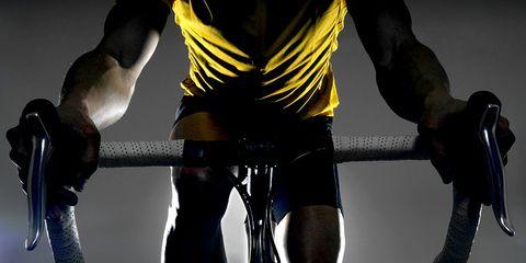 HIIT workout on indoor bike