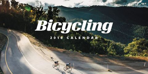 Bicycling 2018 Calendar