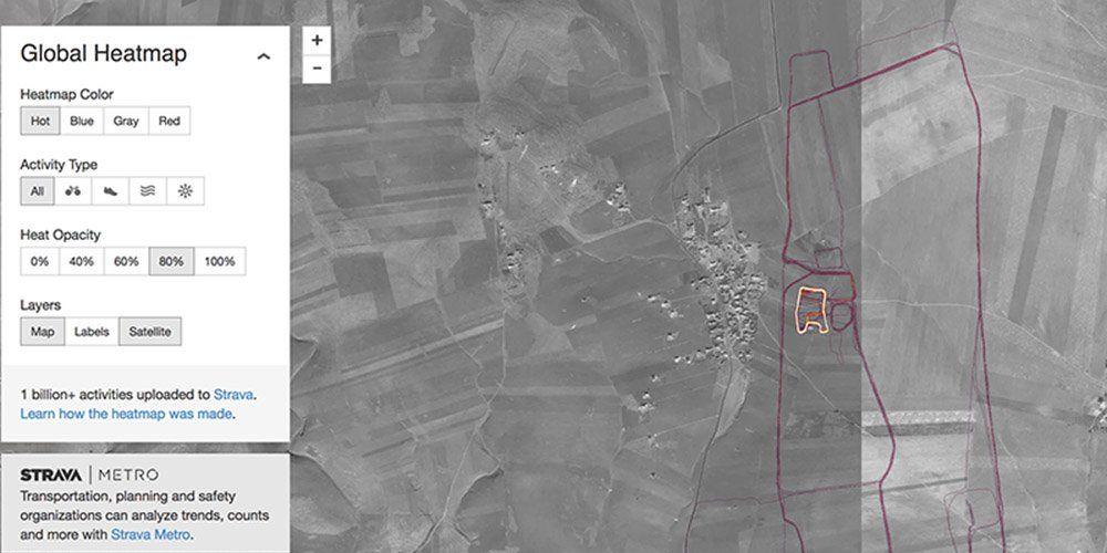 Strava Heatmap Syria