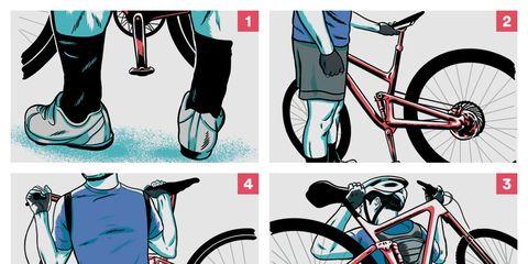 how to hike a bike