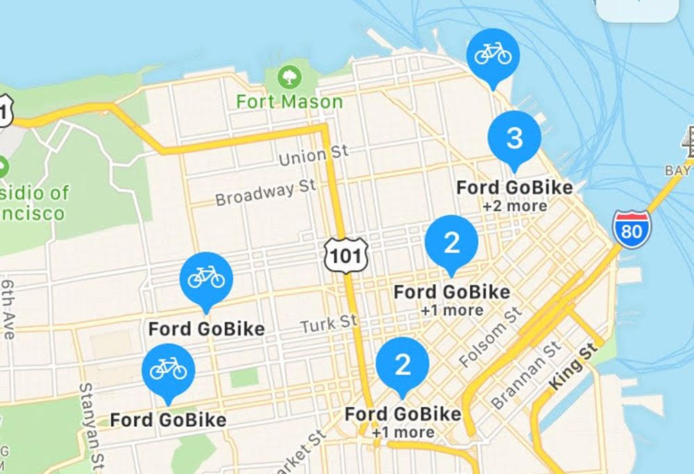 Apple Maps Now Shows Bike-Share Station Data | Bicycling on mu map, ca map, mco map, northern europe map, central europe map, western europe map, osi map,