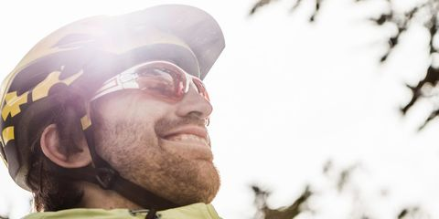 cyclist wearing sunglasses