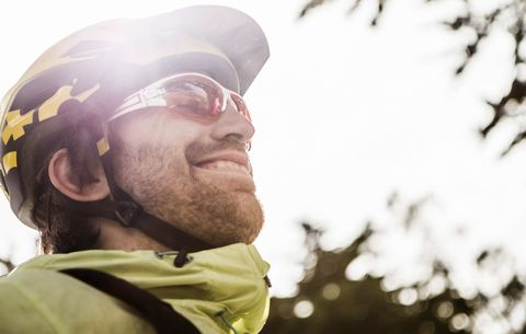 bb830060d5f cyclist wearing sunglasses. Manuel Sulzer. Polarized glasses are ...